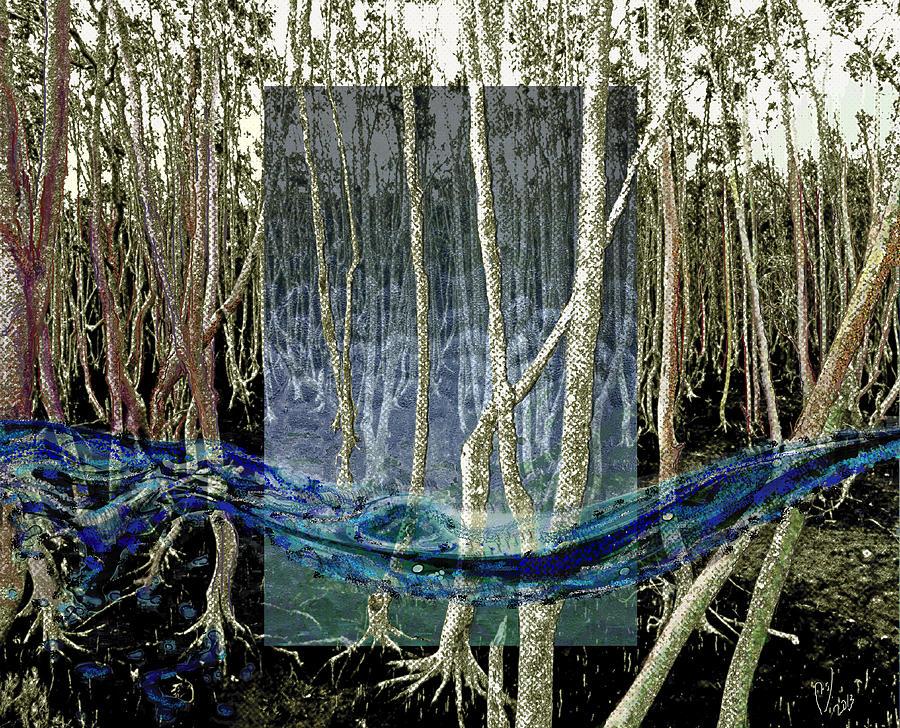 Woods Digital Art - Undercurrent by Maria Jesus Hernandez