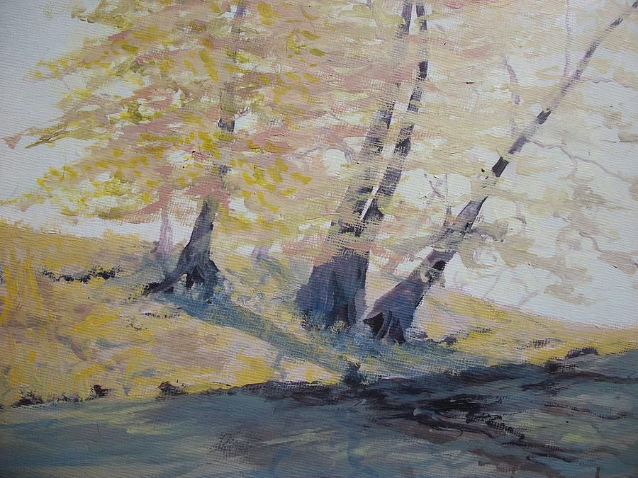 Oil Painting - Undercut Bank by Dwayne Gresham