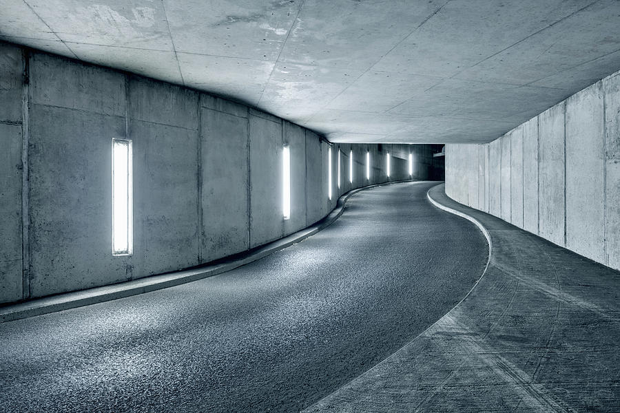 Underground Parking Garage Photograph by Jorg Greuel