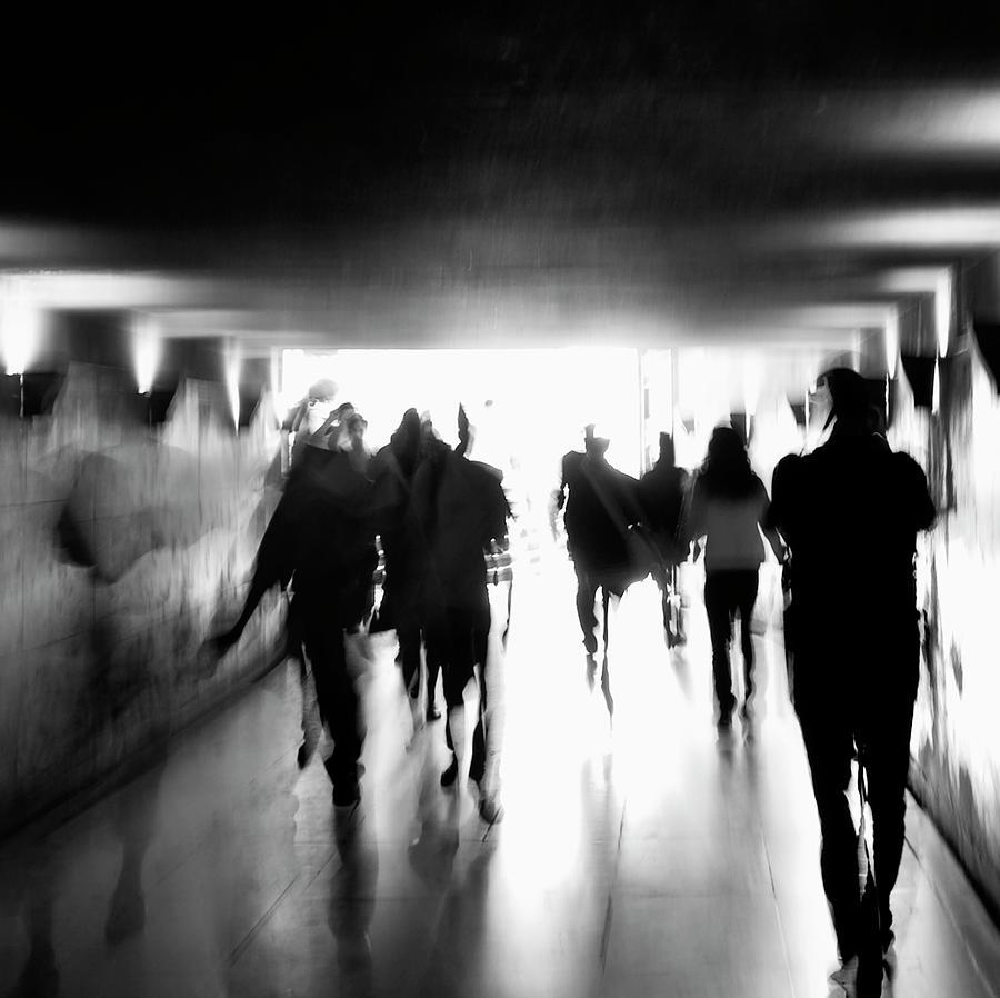 Paris Photograph - Underground Pathway by Andrea Klein