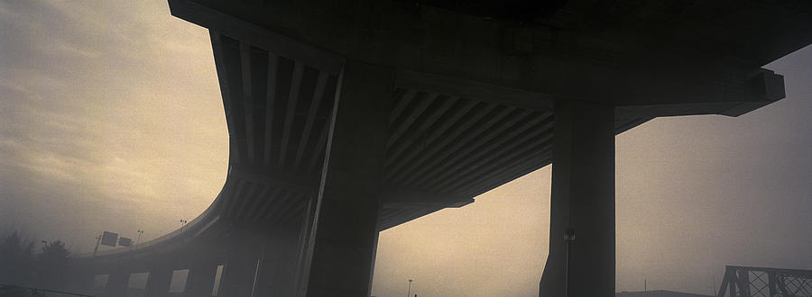 Light Photograph - Underneath Decaying Decarie Autoroute by Roderick Chen