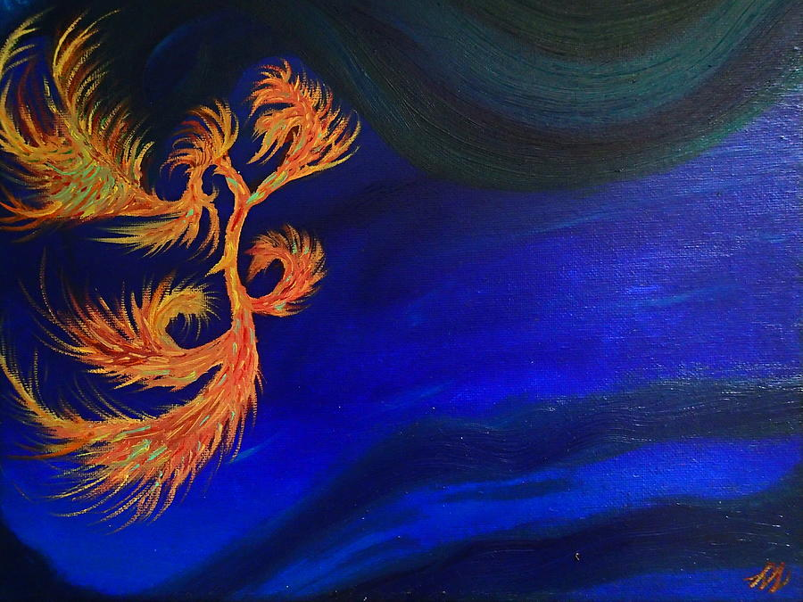 Abstract Painting - Undersea 1 by Robert Nickologianis