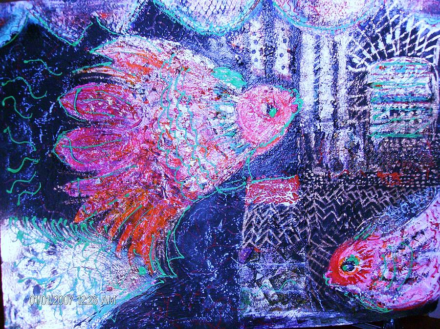 Fish Painting - Undersea Fantasy by Anne-Elizabeth Whiteway