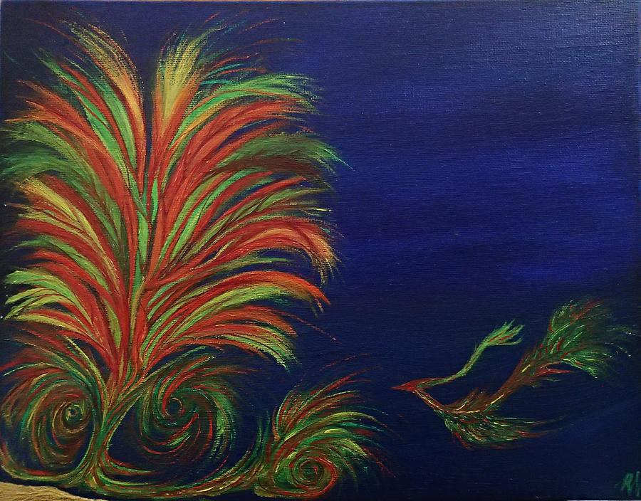 Abstract Painting - Undersea by Robert Nickologianis