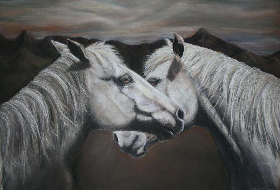 Horse Painting - Understanding by Rachael Curry