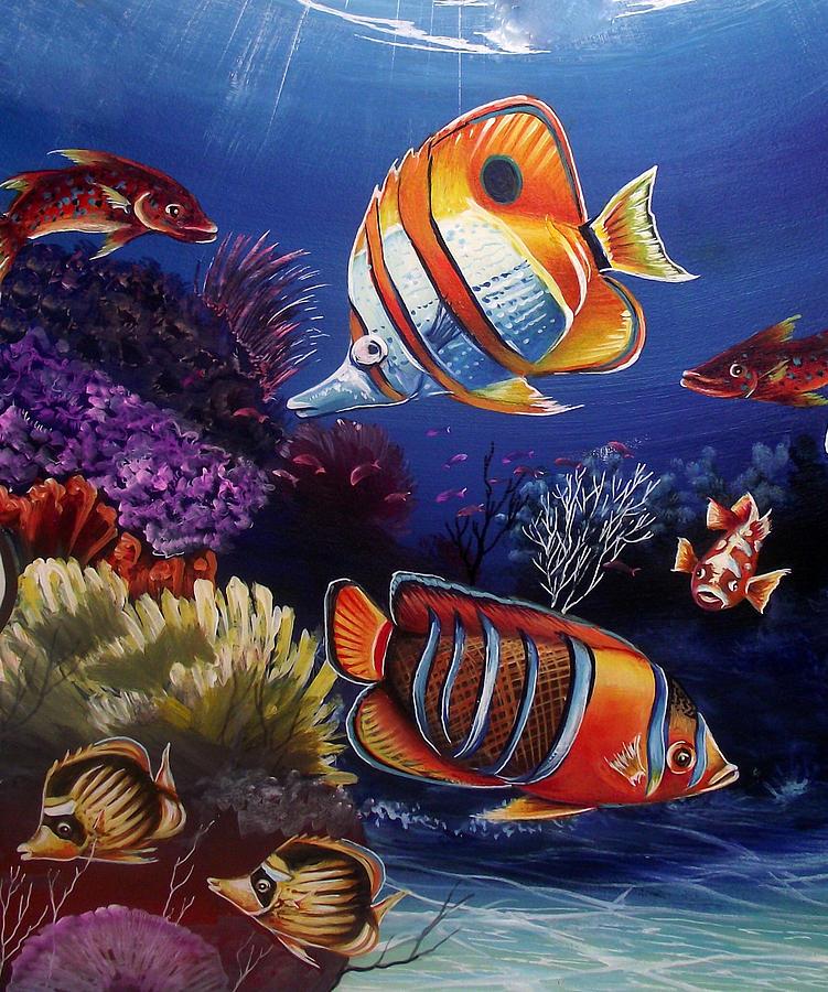 Underwater-8 Painting by Naushad Waheed