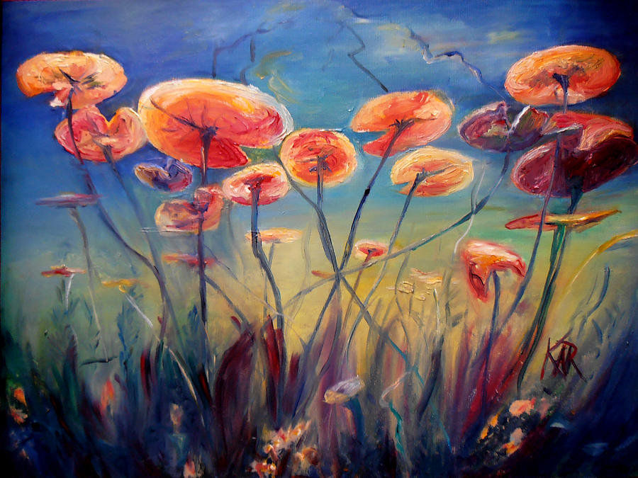 Water Lillies Painting - Underwater Ballet by Art by Kar