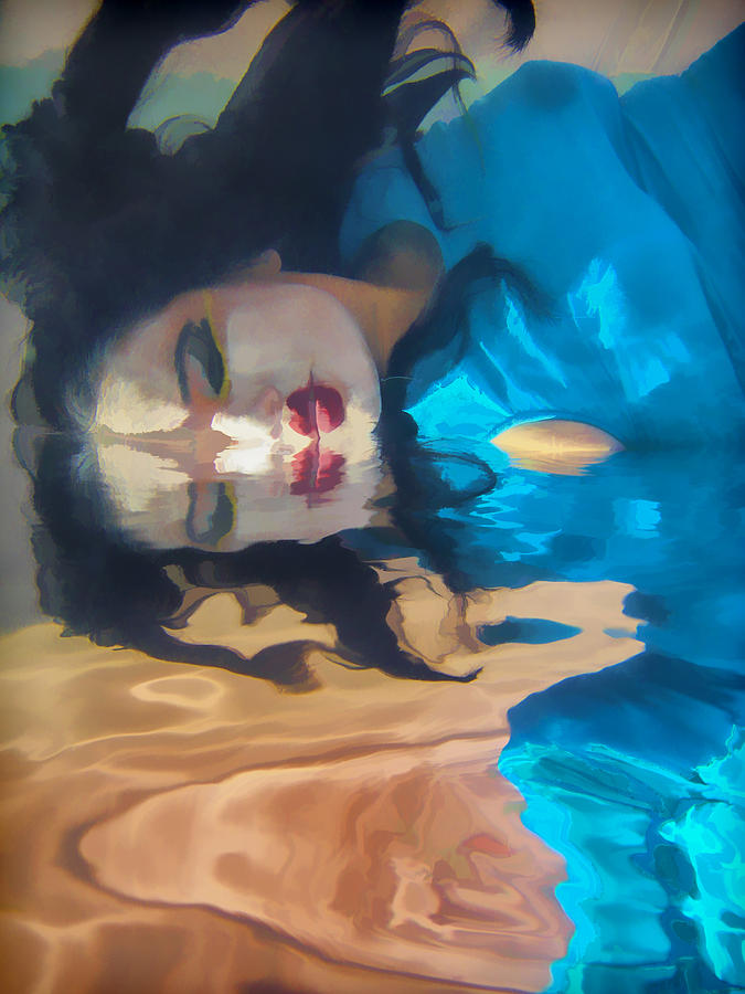 Underwater Photograph - Underwater Geisha Abstract 1 by Scott Campbell