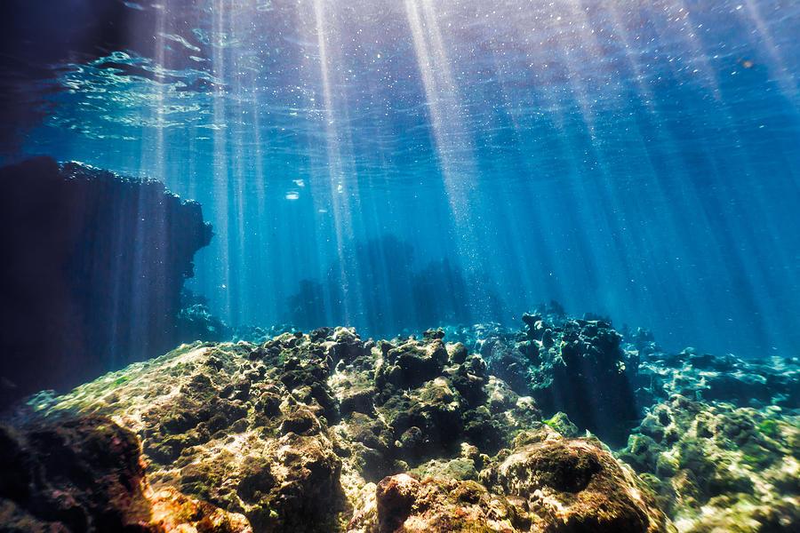 Underwater seascape, Ko Haa Island 3, Andaman Sea, Krabi, Thailand Photograph by Placebo365