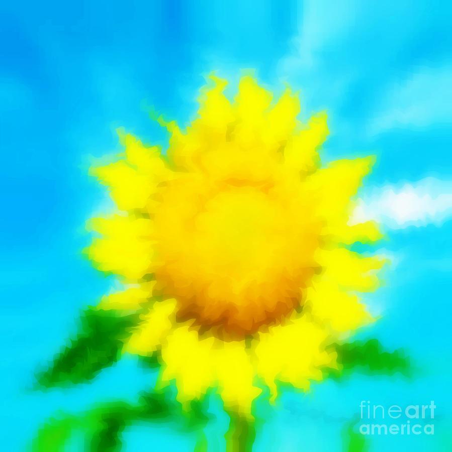 Sunflower Photograph - Underwater Sunflower by Lorraine Heath