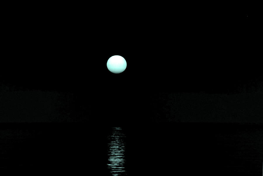 Moon Photograph - Underwater Sunset by Max Mullins