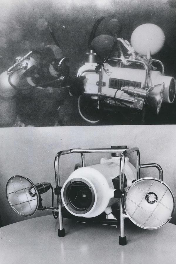Retro Photograph - Underwater Tv Colour Camera by Retro Images Archive