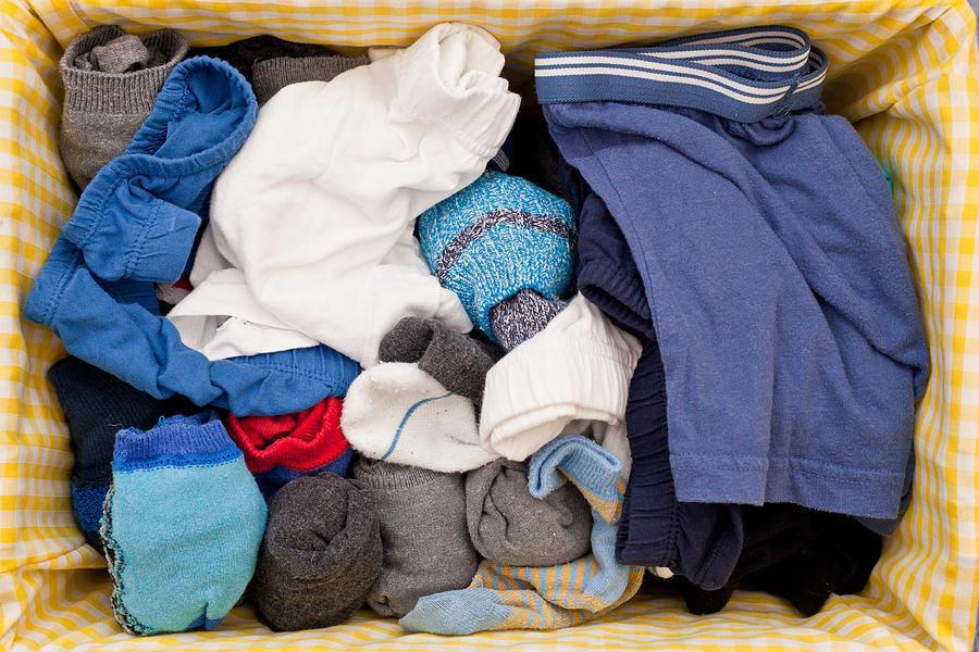 Background Photograph - Underwear And Socks by Tom Gowanlock