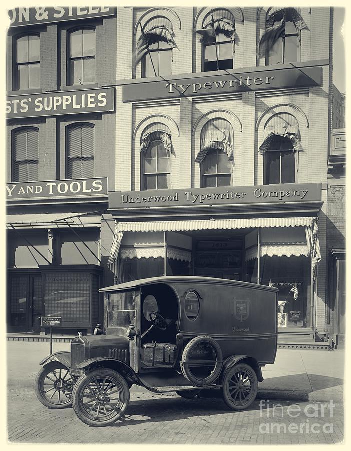 Typewriter Photograph - Underwood Typewriter Factory by Edward Fielding