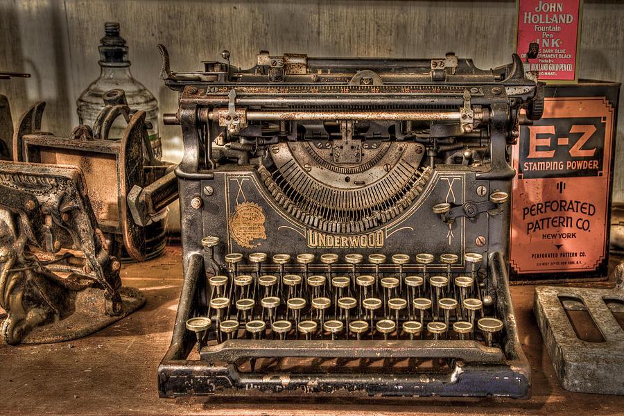 Main Photograph - Underwood Typewriter Number 5 by Debra and Dave Vanderlaan