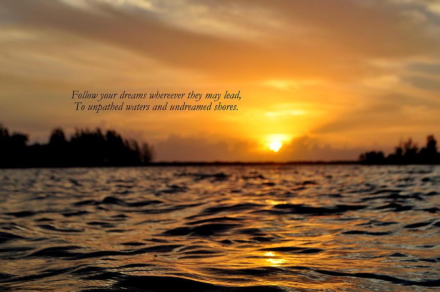 Sunrise Photograph - Undreamed Shores by Dennis Stanton