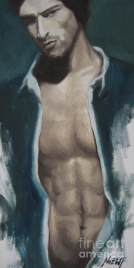 Male Painting - Undressing by Jindra Noewi