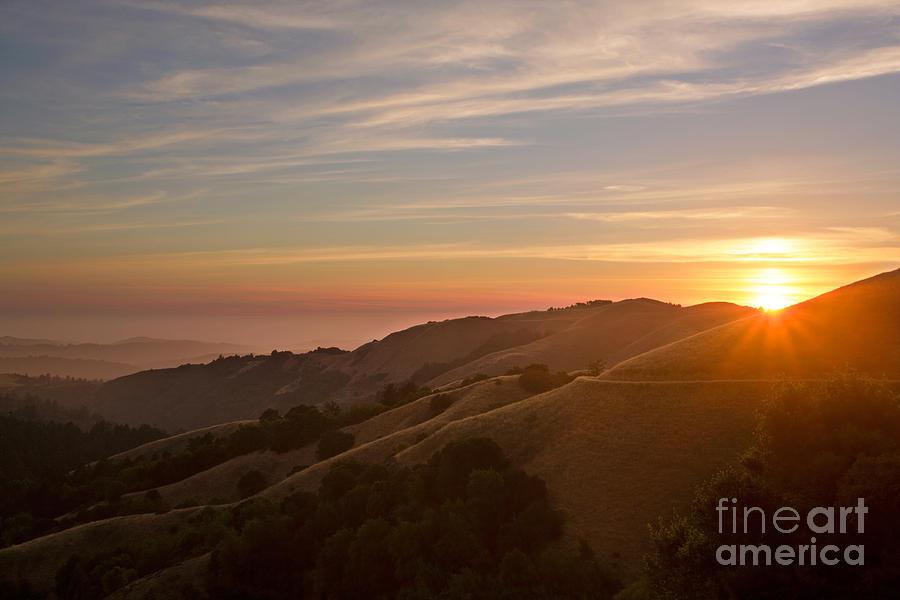 Sunset Photograph - Undulating Hillsides by Matt Tilghman