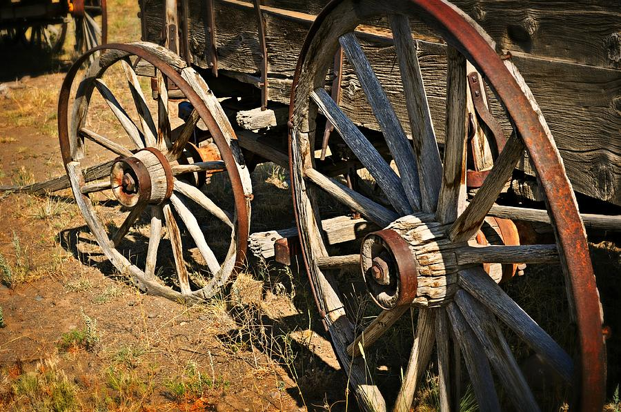 Wagon Photograph - Unequal Wheels by Marty Koch
