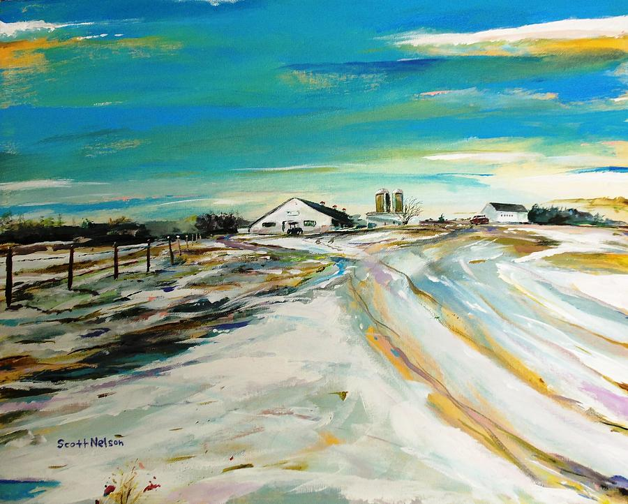 Acylic Painting - Unexpected Dusting Sutton Ma by Scott Nelson