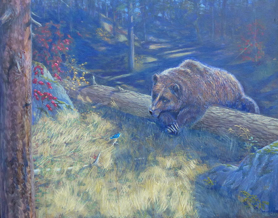 Bear Painting - Unexpected Friends by Charles Smith