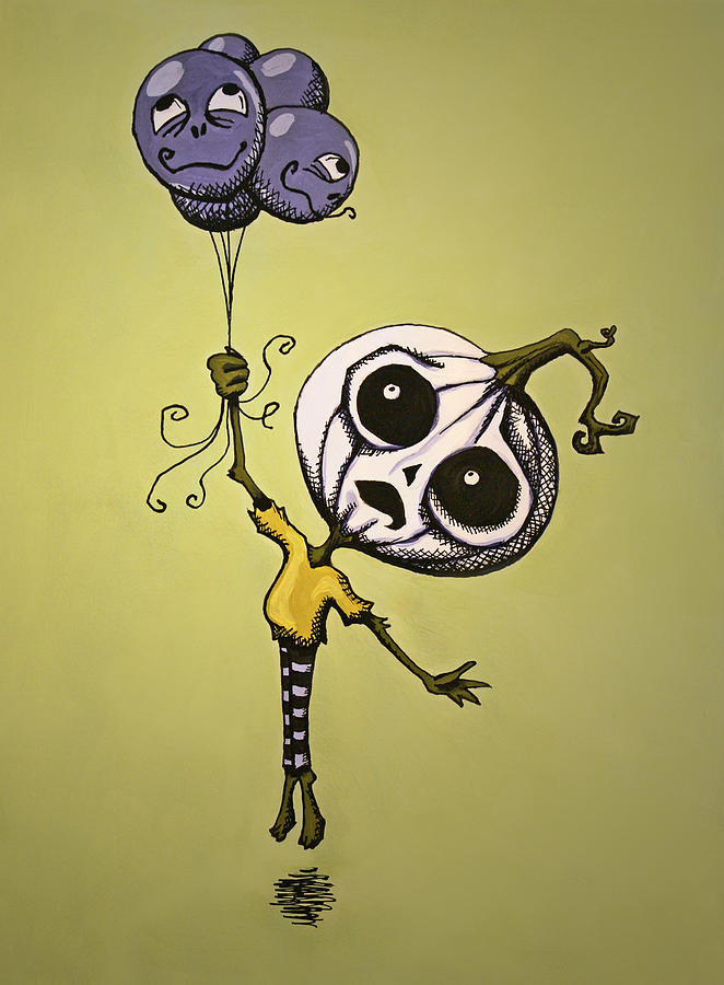 Halloween Painting - Unexpected Helium by Sara Coolidge