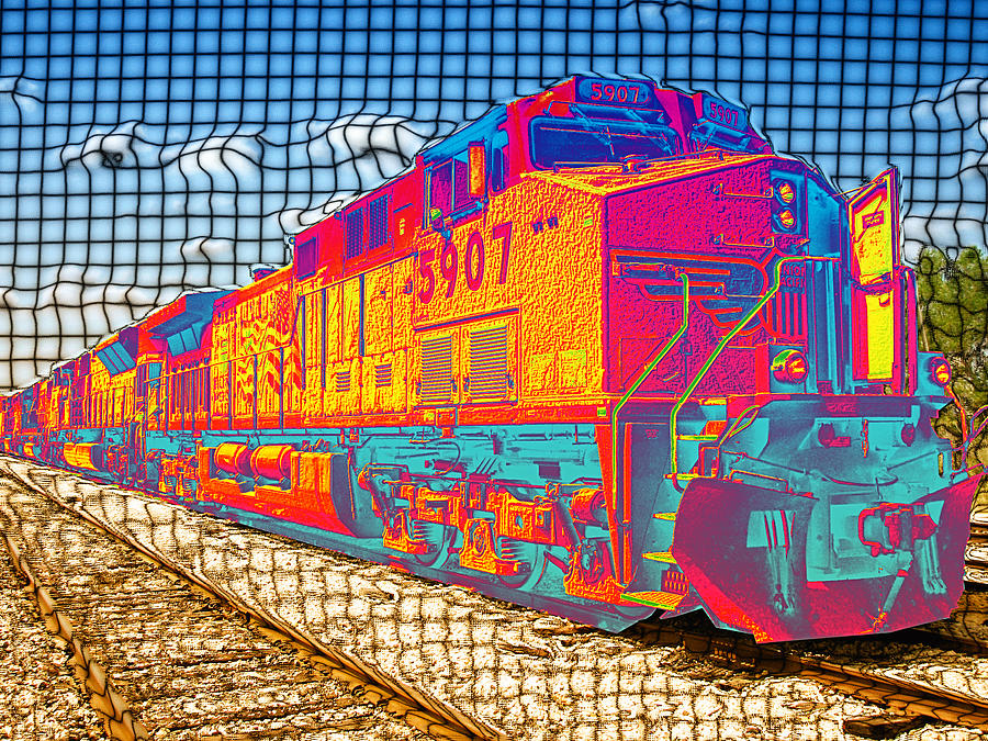 Train Digital Art - Unexpected Journey by Wendy J St Christopher