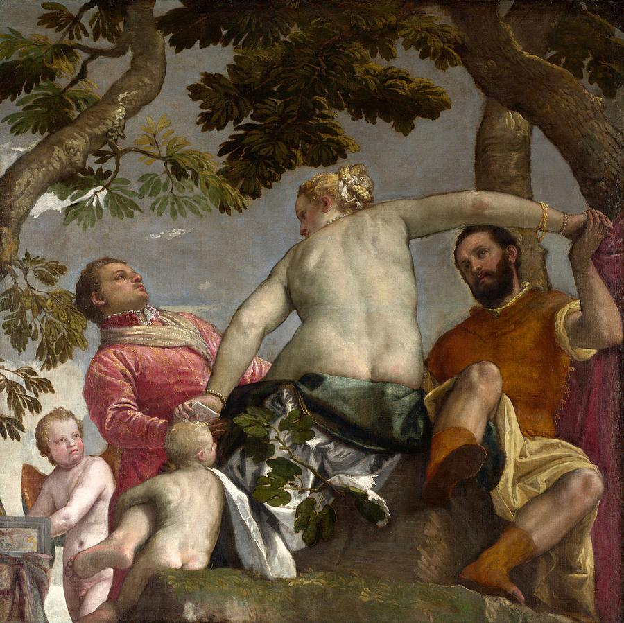 1575 Painting - Unfaithfulness by Paolo Veronese
