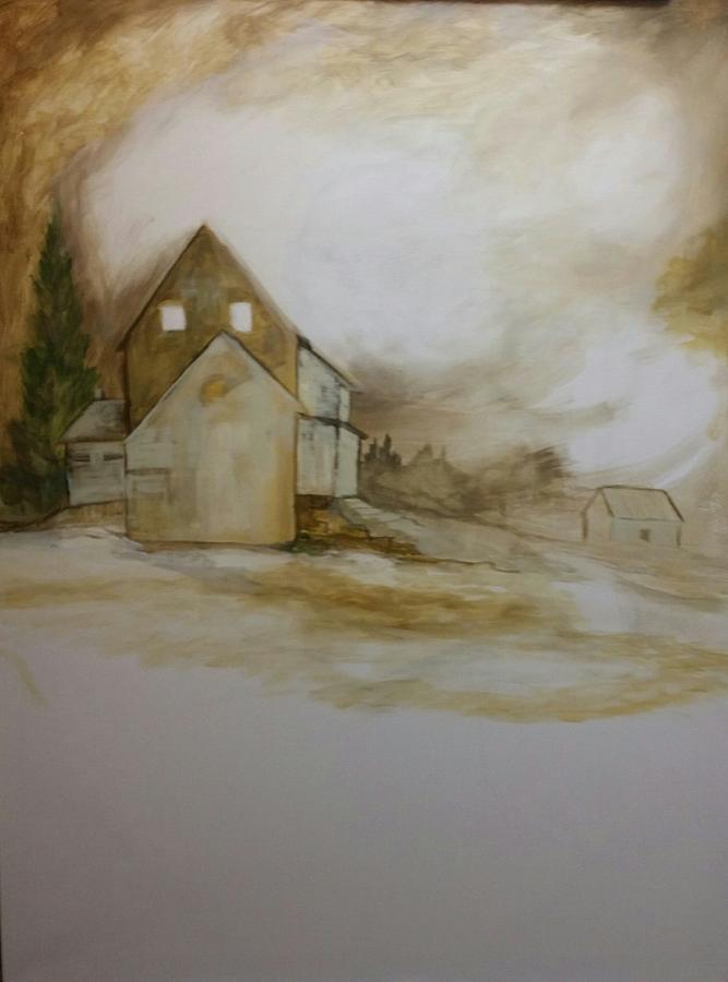 Barn Painting - Unfinished by Kendra Sorum