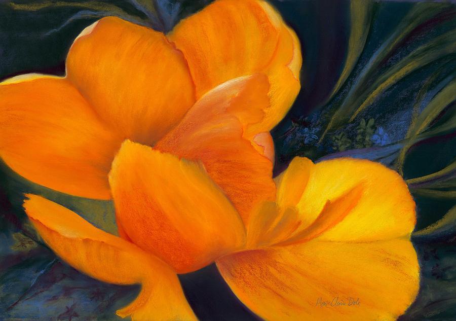 Tulip Pastel - Unfolding by Marie-Claire Dole