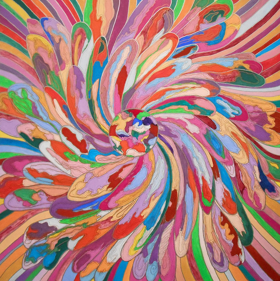 Abstract Painting - Unfolding Melody by Mtnwoman Silver