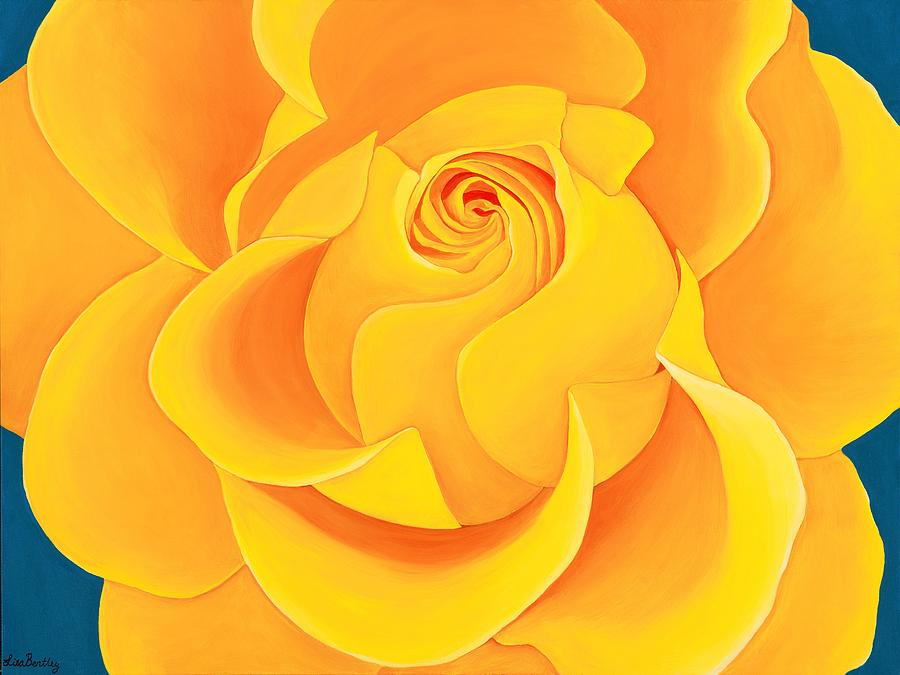 Yellow Rose Painting - Unforgettable  by Lisa Bentley