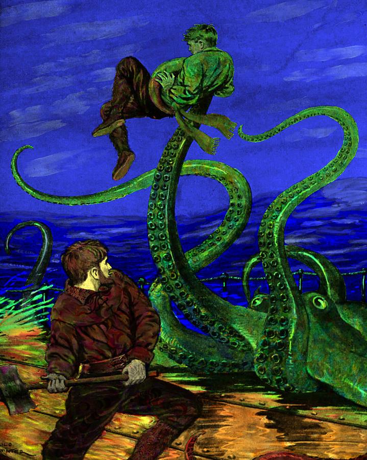 Underwater Digital Art - Unhappy Sailor by Jason Edwards