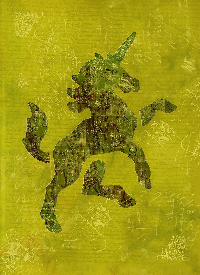 Unicorn Digital Art - Unicorn Fresco by Sarah Vernon