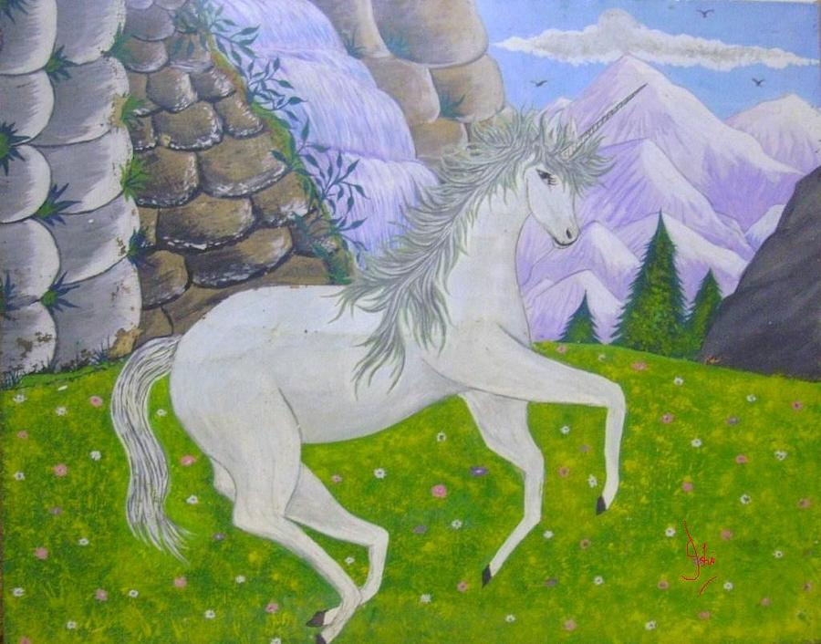 Unicorn Painting by Syeda Ishrat
