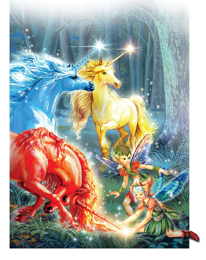 Unicorns And Fairies Photograph by MGL Meiklejohn Graphics ...