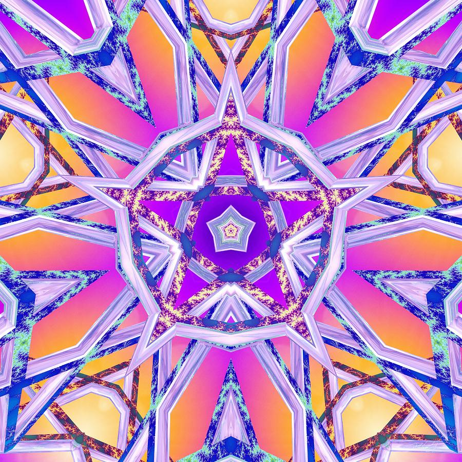 Sacredlife Mandalas Digital Art - Uninhibited Vitality by Derek Gedney