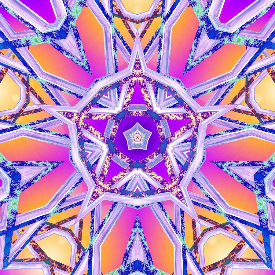 Sacred Digital Art - Uninhibited Vitality by Derek Gedney