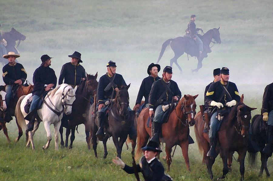 American Photograph - Union Cavalry On The March - Perryville Ky by Thia Stover