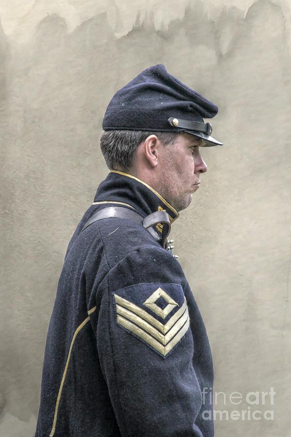 Union Civil War Cavalry Sergeant Digital Art By Randy Steele