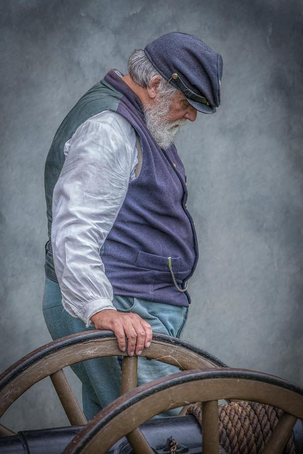 Soldier Digital Art - Union Civil War Soldier The Veteran  by Randy Steele