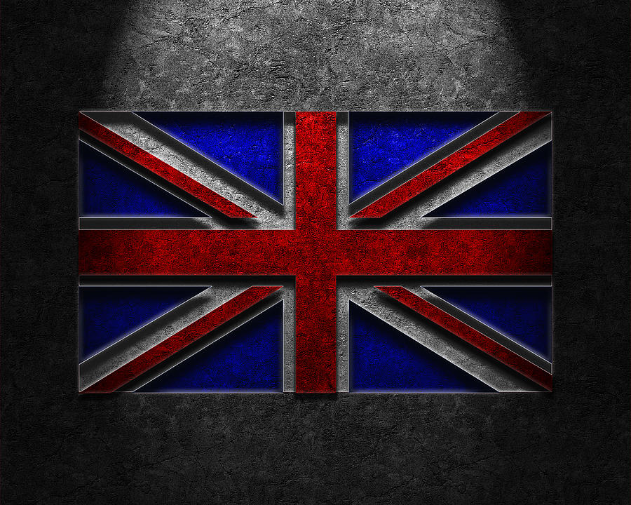 Backdrop Digital Art - Union Jack Stone Texture by The Learning Curve Photography