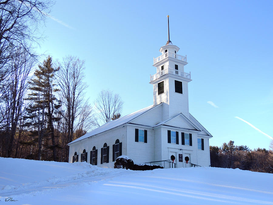 Church Photograph - Union Meeting House In West Newbury Vermont by Nancy Griswold