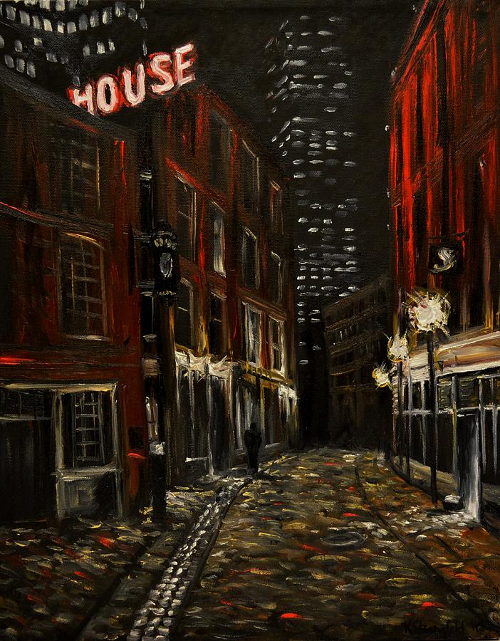 Cityscape Painting - Union Oyster House by Karen Strangfeld