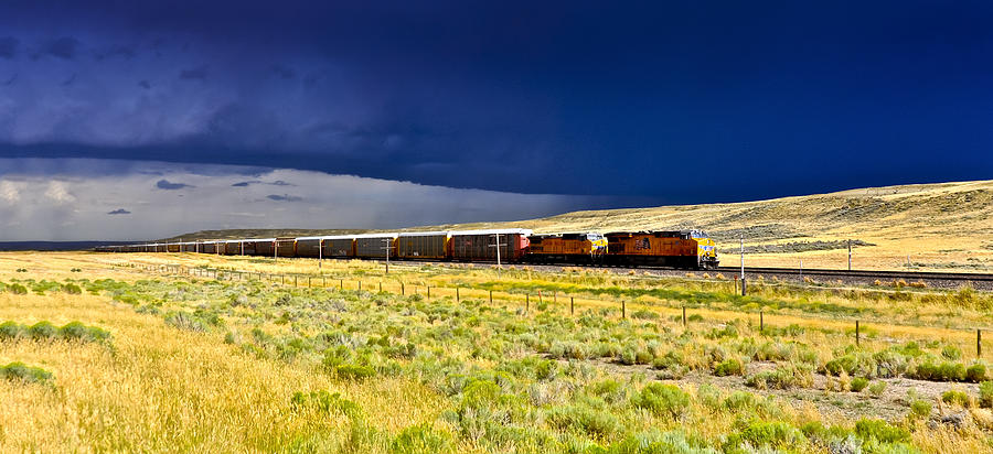 Union Pacific Railroad Photograph - Union Pacific Racing A Thunder Storm by Gej Jones