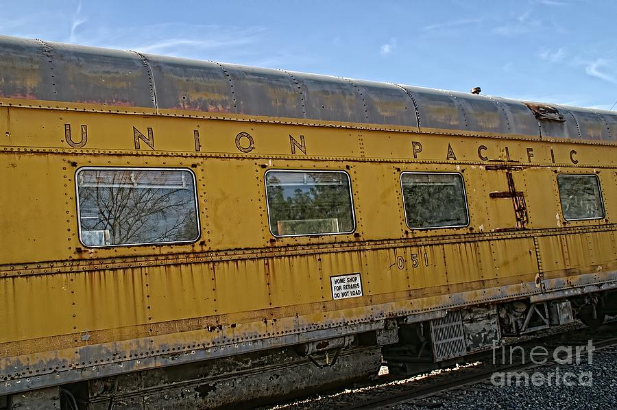 Rivets Photograph - Union Pacific by Peggy Hughes