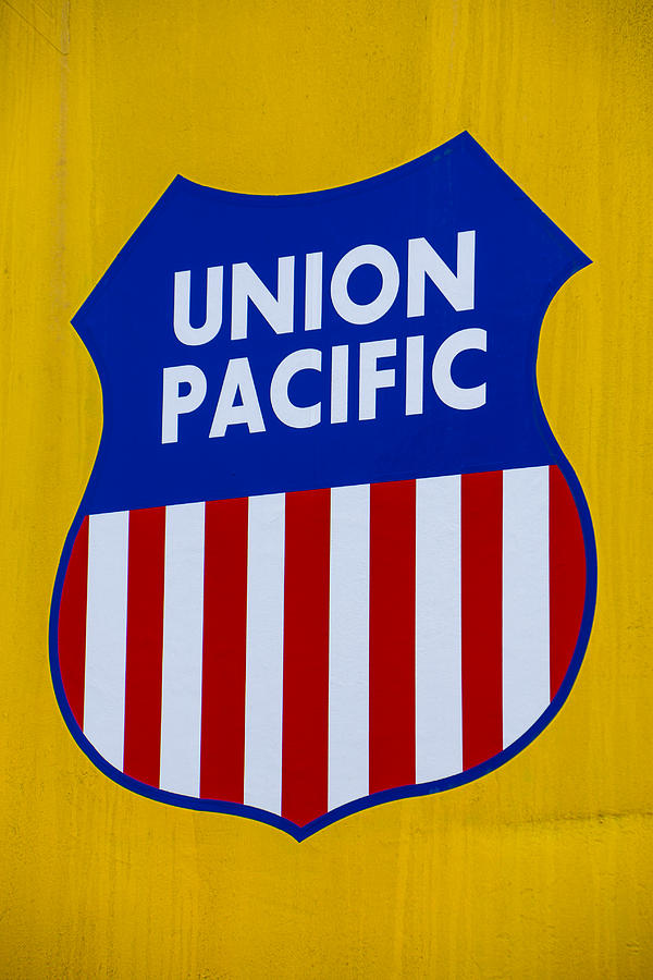 Union Pacific Photograph - Union Pacific Raolroad Sign by Garry Gay