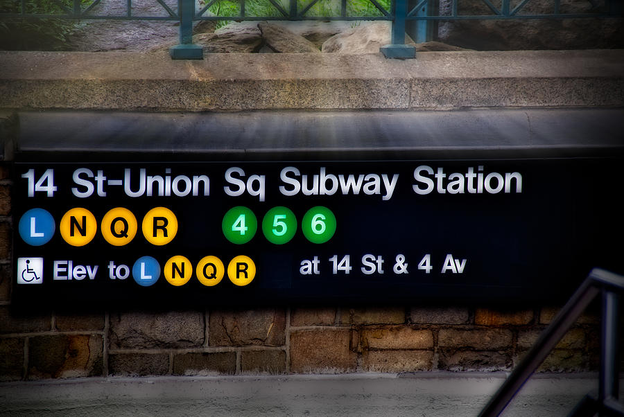 Union Square Photograph - Union Square Subway Station by Susan Candelario