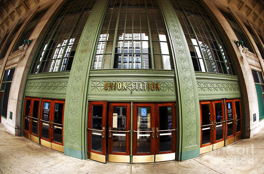 Door Photograph - Union Station Exterior by John Rizzuto