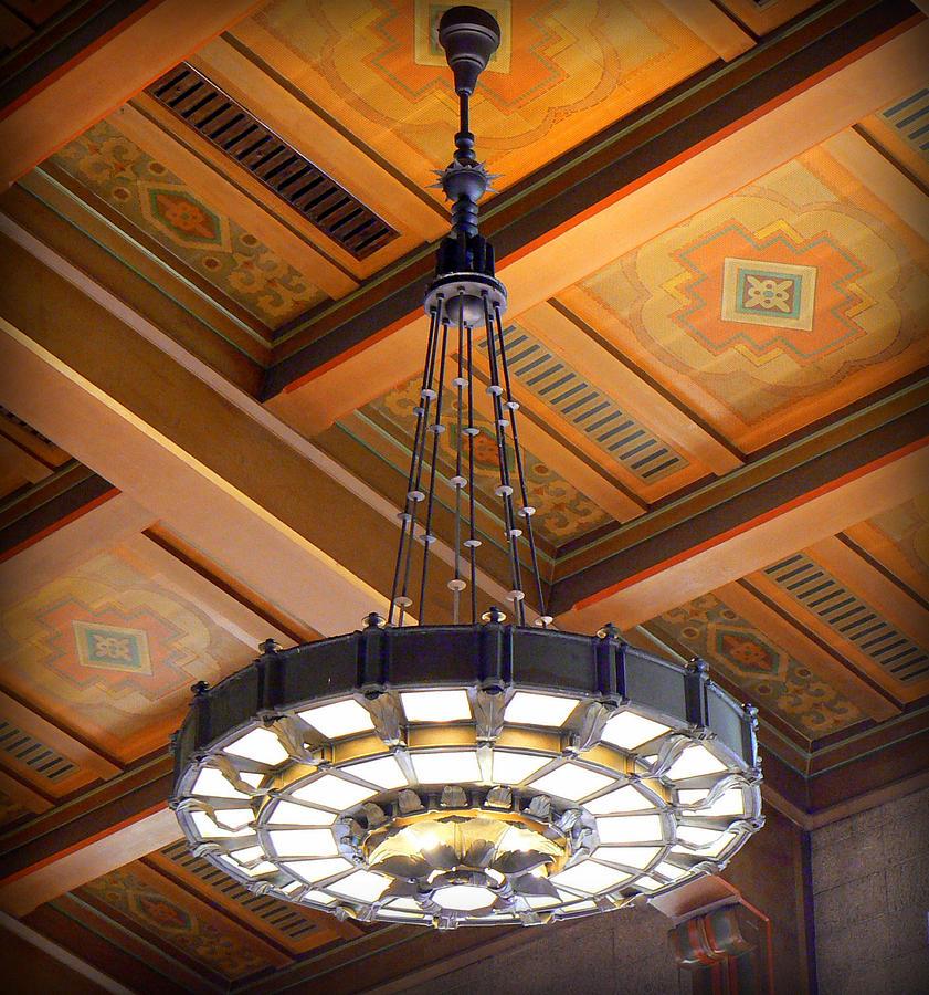 Los Angeles Photograph - Union Station Light Fixture by Karyn Robinson